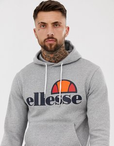 Read more about Ellesse hoodie with classic logo - grey