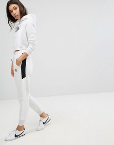Read more about Nike air regular fit sweat pants with high shine logo - birch heather white