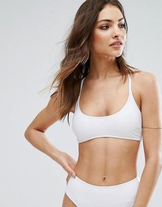 Read more about Missguided mix match cross back bikini top - white