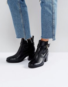 Read more about Carvela heeled buckle strap boot - blk leather