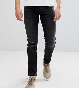 Read more about Replay hyperflex anbass distressed slim jeans - black 098