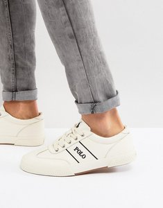 Read more about Polo ralph lauren tarrence trainers leather in off white - atrist cream