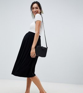 Read more about Asos design maternity midi skater skirt - black