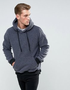 Read more about Bellfield hoodie in washed borg - charcoal overdyed