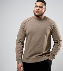 Read more about Asos plus sweatshirt in beige - mudstone