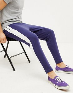 Read more about Sixth june skinny joggers in blue with side stripe - blue
