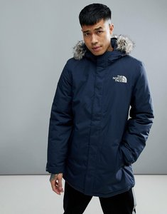 Read more about The north face zaneck detachable faux fur hood jacket in navy - tnf urban navy
