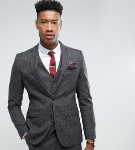 Read more about Harry brown tall skinny grey nep suit jacket - grey