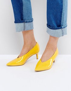 Read more about Asos suzie pointed kitten heels - yellow