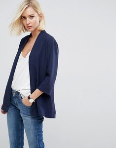Read more about Asos soft chuck on blazer - navy