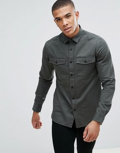 Read more about Only sons shirt in slim fit military twill - deep depths