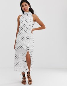 Read more about Glamorous high neck maxi dress in spot