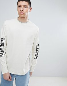 Read more about Champion x wood wood madness long sleeve t-shirt in stone - stone