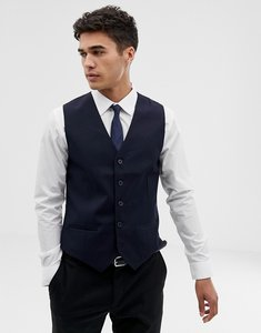 Read more about French connection slim fit navy tuxedo waistcoat - navy