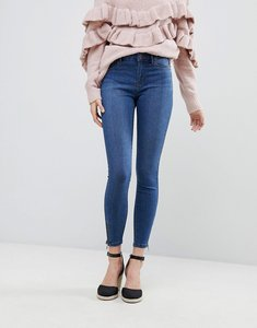 Read more about Vero moda super skinny jean with ankle zip - medium blue