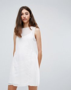 Read more about Pieces eila mesh overlay dress - cloud