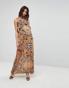 Read more about For love and lemons margot maxi dress in print - goldenrod