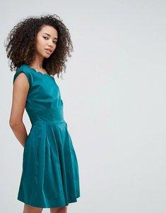 Read more about Louche julita scallop dress - teal