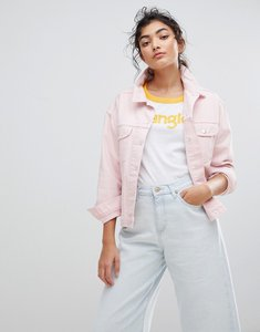Read more about Wrangler denim trucker jacket - pretty pink