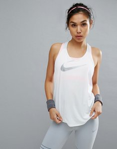 Read more about Nike training dry elastika tank in white - white