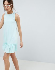 Read more about Asos design racer pep hem mini dress - mint