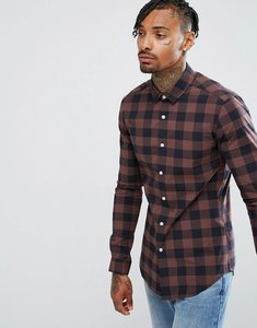 Read more about Asos skinny buffalo shirt - puce brown