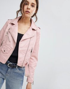 Read more about Parisian leather look jacket - pink