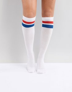 Read more about Monki knee high sport sock - white