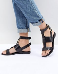 Read more about Office shadow black leather sandals - black