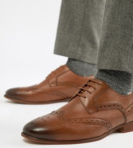 Read more about Kg by kurt geiger wide fit brogues in tan leather - tan