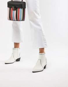 Read more about Faith bud studded heeled ankle boots - white