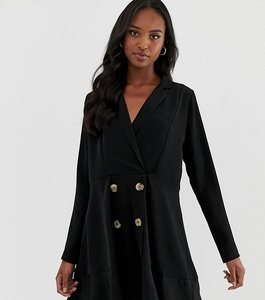 Read more about Asos design tall tux mini dress with pephem