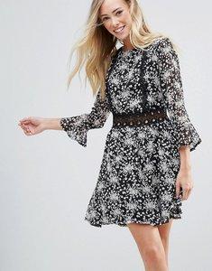 Read more about Rage crotchet floral dress - black