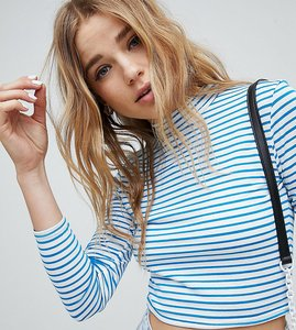 Read more about Miss selfridge stripe crew neck top - multi