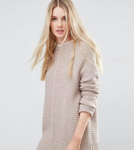 Read more about Asos tall ultimate chunky jumper - mink