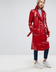Read more about Asos trench coat in vinyl - red