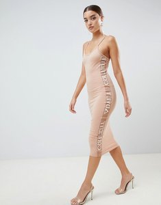 Read more about Missguided printed strappy midi dress - light pink