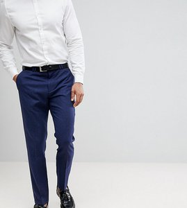 Read more about Noak cropped slim trousers with fleck - navy