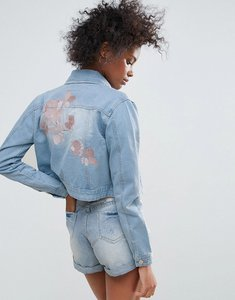Read more about Urban bliss macy embroidered denim jacket - denim