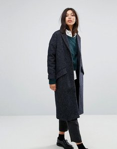 Read more about Parka london wool duster coat - navy textured