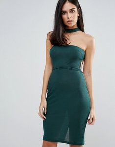Read more about Unique21 choker strapless dress - green