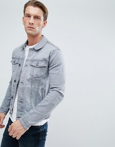 Read more about Asos denim jacket in skinny fit with grey wash - grey