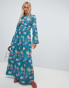 Read more about Glamorous floral maxi dress - blue pink floral