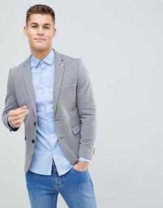 Read more about Burton menswear slim jersey blazer in grey - grey
