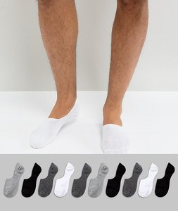 Read more about Asos invisible socks in monochrome 10 pack - multi