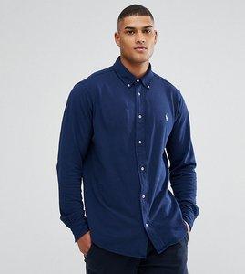 Read more about Polo ralph lauren tall pique shirt buttondown in navy - newport navy