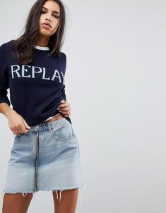 Read more about Replay knitted logo jumper - navy