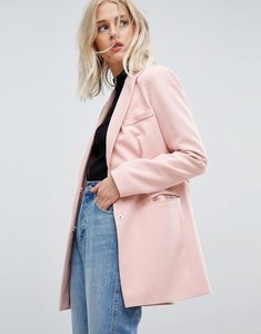 Read more about Asos tailored easy mansy blazer - nude