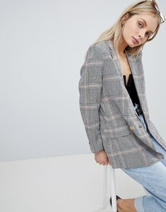 Read more about Bershka check linen blazer - multi