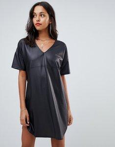 Read more about Asos pu mini smock dress - black